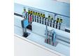 在单行道分析仪中识别机架代码和测量测试试管的液位