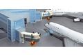 飞机乘客登机桥和飞机泊机系统