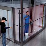 防护电梯井道与电梯轿厢之间的缝隙