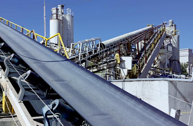 化学工业中的输送带