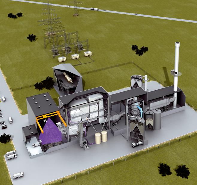 垃圾焚烧发电站(废弃物能、生物质能)