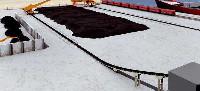 水泥工业中的输送带