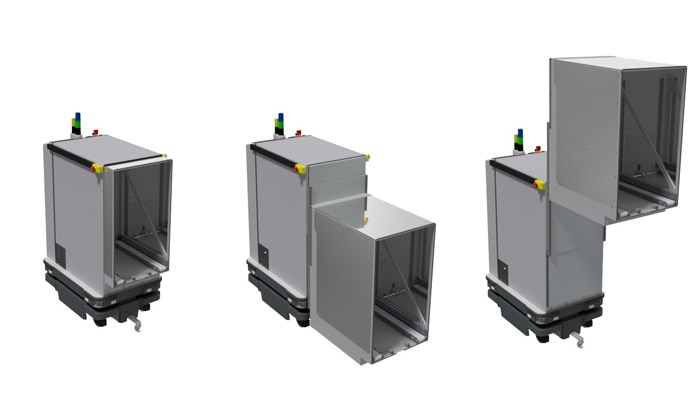 The BS Trayshuttle is precisely programmed for its application on-site and knows its way around.