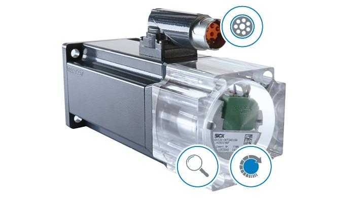 Smarte Sensorik zusammen mit einer weltweit etablierten Schnittstelle – das sind Smart Motor Sensors von SICK.