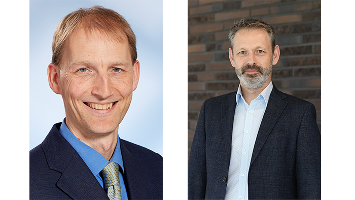 Andreas Fritzsche (SICK) and Andreas Pfaff (Mitsubishi Electric)