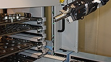 Detailed view: robot-assisted automation system