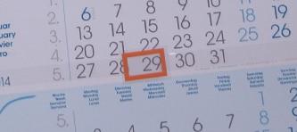 finance calendar