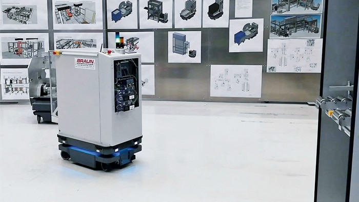 VIDEO: Braun Sondermaschinen GmbH BS-Trayshuttle FTS, AGV, FTF