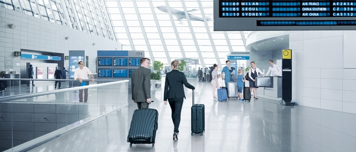 Airport baggage tracking photo